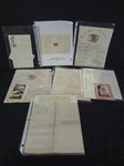 (7) Civil War Documents: Muster Roll, Bugler Certificate, Tax Documents, Letters, Discharge, Others