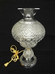 "Waterford Crystal Large 14"" Inch Inishmaan Alana Hurricane Electric Table Lamp"