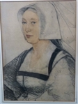 Hand Colored Holbein Portrait , after Hans Holbein