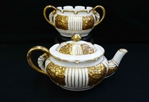 Heavy Gold Venice Tea Set Lotus Ware Knowles Taylor KT&K