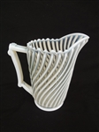 EAPG A.J. Beatty Glass Company White Beatty Swirl Water Pitcher c.1890