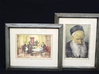 Saul Jacob Rabino (1892-1969) (2) Pastels Signed