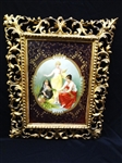 "Royal Vienna Hand Painted Portrait Plaque ""Die Drei Parzen"" The Three Fates Signed Bernard"
