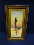 "Original Watercolor Painting F.D. Barton ""Sunset"""