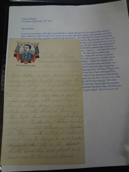 (5) Civil War Letters and Documents: 1861-1863