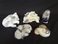 (4) Pieces of Royal Copenhagen Animal Figurines