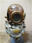 Copper and Brass Divers Helmet With Shoulder Assembly