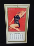 "1952 Marilyn Monroe ""Golden Dreams"" Calendar Nude With Negligee Overprint"