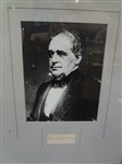 Hannibal Hamlin Cut Signature Display Piece Framed LOA from JSA