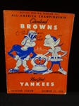 Otto Graham Autographed 1946 Cleveland Browns Championship Program LOA from JSA