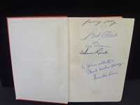 Multi Signed Cleveland Indians Book Franklin Lewis 1949: Bob Avila, Larry Doby, Rosen, others
