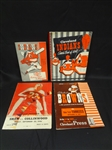 (4) Sports Programs/Sketchbooks:1948 Indians, 1949 Browns Program