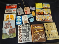 Group of Vintage Sport Ephemera Side Passes, Press Guides Programs from the 50s-60s