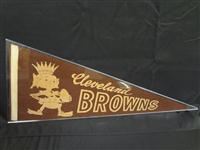 1950s Cleveland Browns Full Size Pennant