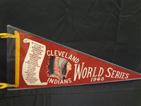 1948 Cleveland Indians World Series Pennant Full Size