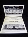 1951, 1952, 1953 Cleveland Browns Oversize Team Photographs Unframed