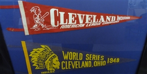 1948 World Series Cleveland Indians Pennant, 1954 American League Champs Indians Pennant