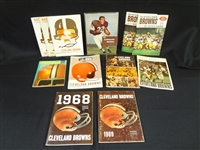 Group of Cleveland Browns Press/Radio/TV Guides from the 1960s.