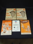 Group of Cleveland Browns Ephemera: Restaurant Menu, Championship game program, Other
