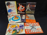 Cleveland Indians Sketchbooks and Programs 1952-1969