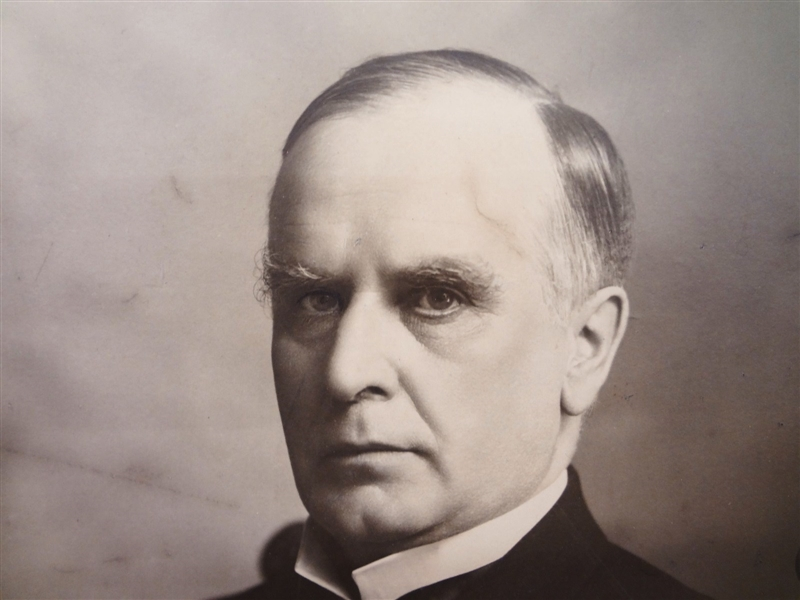 President William McKinley Oversize Photograph Signed Below