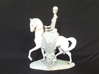 "Lladro Large ""Woman on Horse"" #4516 Issued 1970"