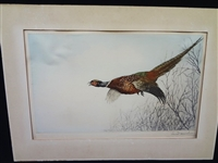 Leon Danchin Signed Hand Colored Etching 333/500