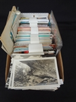 Postcard Shoe Box Approximately 750 Including Real Photo, Borders, Borderless