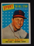 1958 Topps Stan Musial #476 Trading Card High Grade