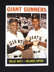 1964 Topps #306 Giant Gunners Willie Mays/Orlando Cepeda High Grade