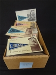 300 Postcard Lot: Pennant Felts, of US Cities