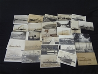 (29) Real Photo Postcards of Ships and Boats