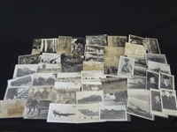 (54) Real Photo Postcards Military: Camp Life, Portraits, Planes, Ships