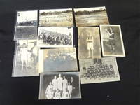 (10) Real Photo Postcards featuring Sports: Baseball, Basketball, More