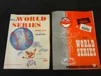 1948 & 1954 Cleveland Indians World Series Programs