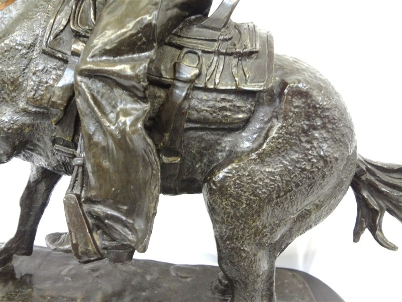 Frederic Remington Large Bronze Cowboy