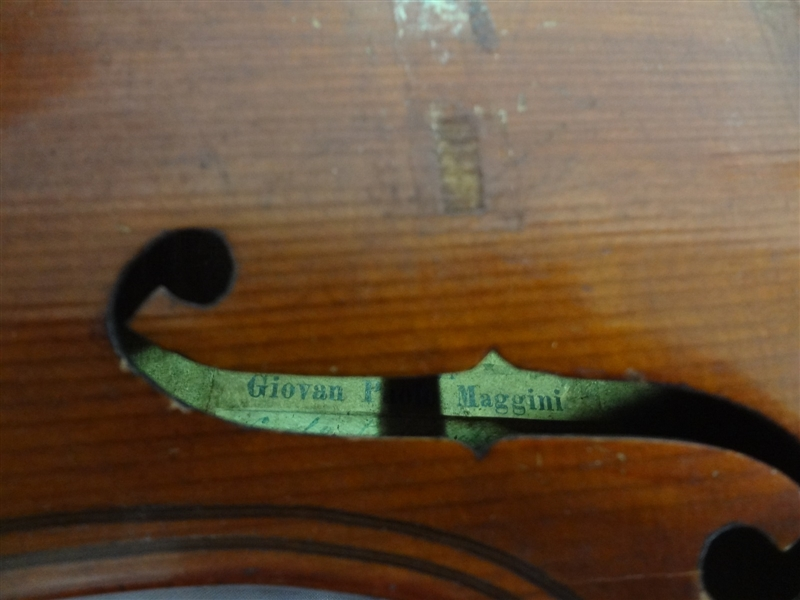 Giovan Paolo Maggini Violin 1899 Paper Label 4/4 Full Size