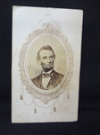 CDV Carte de Visite of President Lincoln No Backmark