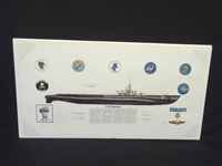 Michael Wooten USS Harder WWII Submarine Signed Lithograph