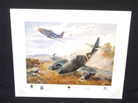 American Fighter Aces Series I Captain Yeagers First Jet Signed Lithograph