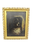 Early 19th Century oil Painting of a Dog Portrait