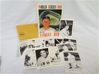 1960s New York Yankees Ephemera: Picture Pack, World Series Program