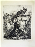 "Marc Chagall ""The Fox and The Ram"" Etching Plate 31/200"