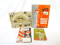 Cleveland Indians Programs and Ephemera Lot