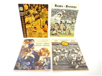 (4) Vintage Cleveland Browns Game Programs