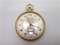1921 14k Gold Illinois A. Lincoln Model Three Pocket Watch