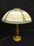 Decal Reverse 6 Panel Table Lamp With Cast Iron RMR Base