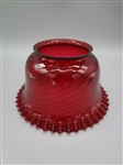 Red Cranberry Ruffle Lamp Shade