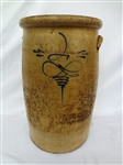 Early Two Gallon Crock Cobalt Front Decoration
