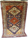 "Qashqai Wool Romanian Hand Knotted Rug 48"" x 72"""